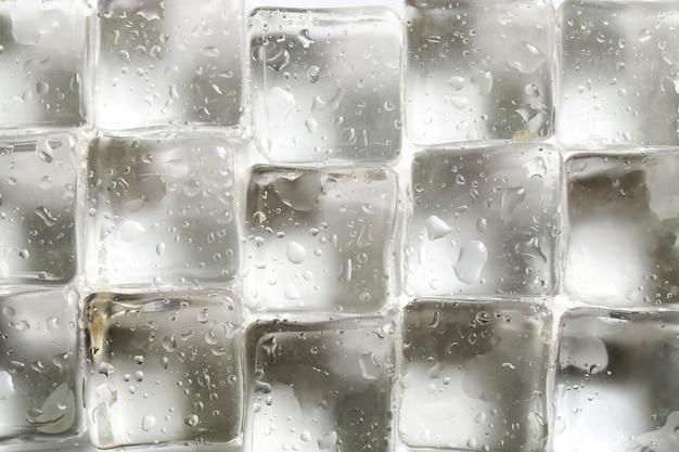 Fondo de textura de cubitos de hielo Foto gratis