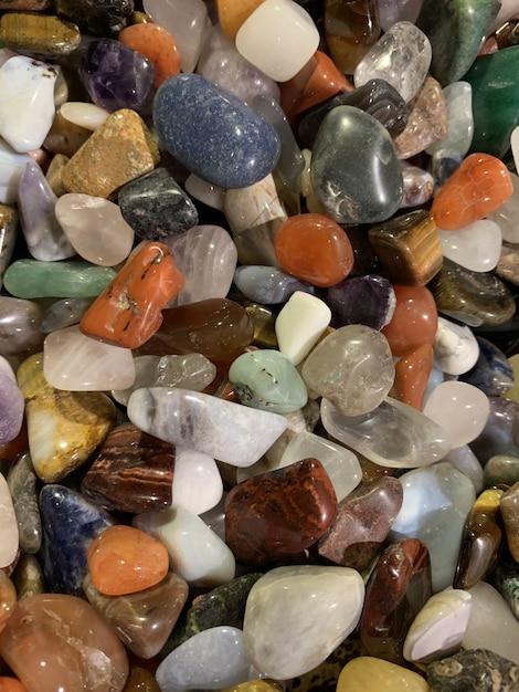 Fondo de textura de gemas multicolores Foto Premium