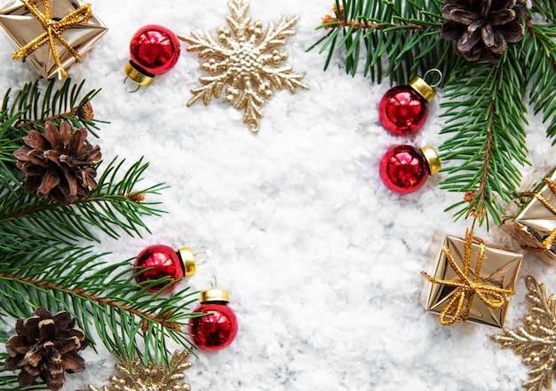 Fondo de vacaciones de navidad Foto Premium