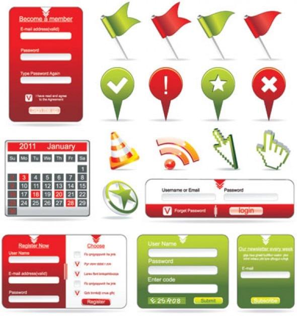 formularios web y los iconos