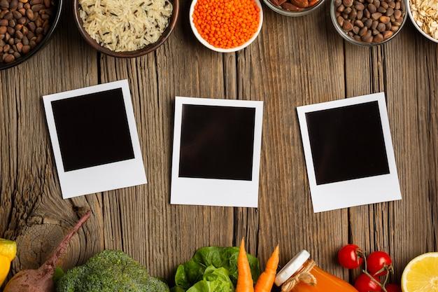 Fotos maqueta con verduras Foto gratis
