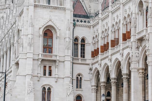 Fragmento del edificio del parlamento húngaro Foto Premium