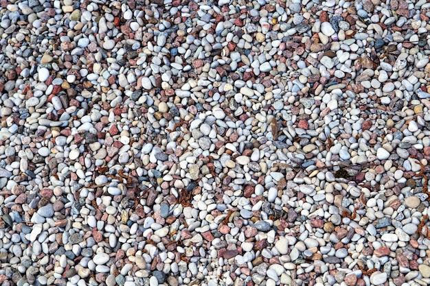 Fragmento de playa con guijarros. Foto Premium