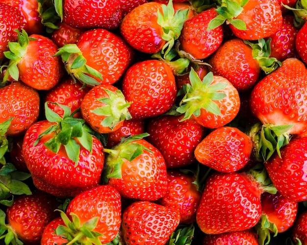 Fresco dulce maduro delicioso fresa Foto gratis