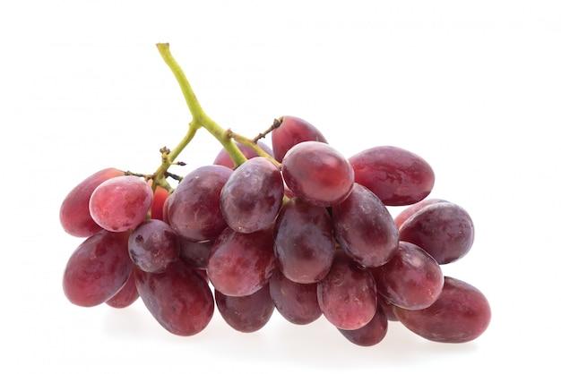 Fruta de las uvas aislada en el fondo blanco Foto gratis