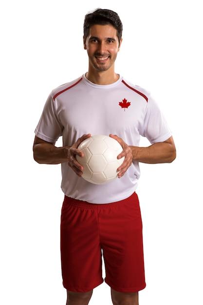 Fútbol canadiense futebol en espacios en blanco Foto Premium