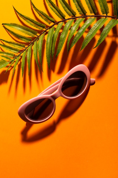 Gafas de sol de colores retro close-up Foto gratis