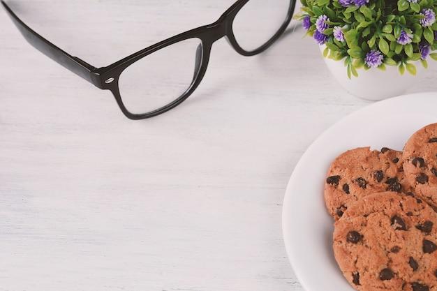 Galletas de chispas de chocolate whit copyspace | Descargar Fotos ...