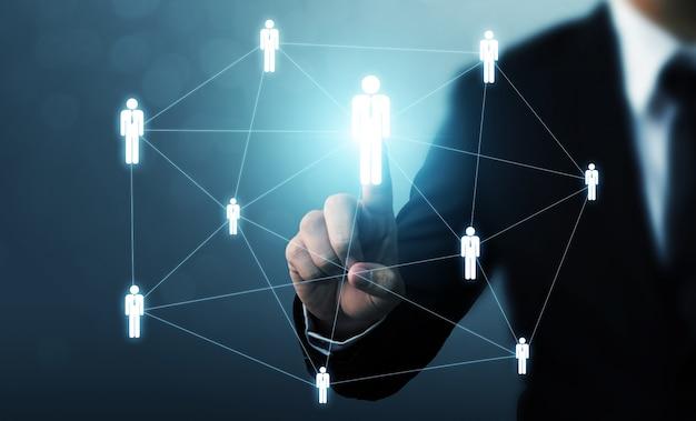 Gestión de recursos humanos y contratación. Foto Premium