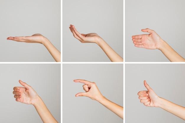 Gestos de manos aleatorios Foto gratis