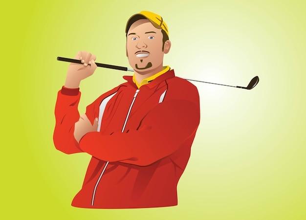 golf profesional vector