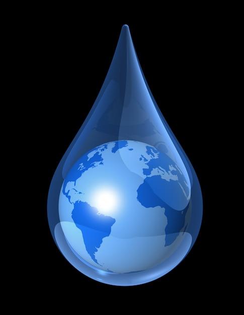 Gota de agua de la tierra Foto Premium