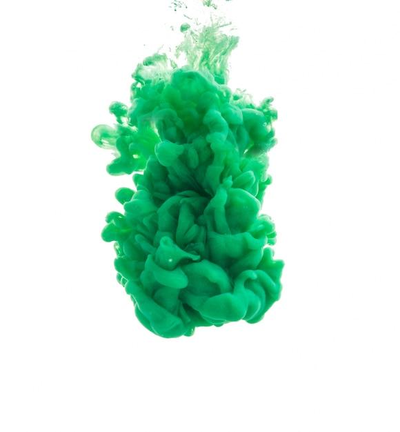 gota de pintura verde cayendo en agua descargar fotos gratis