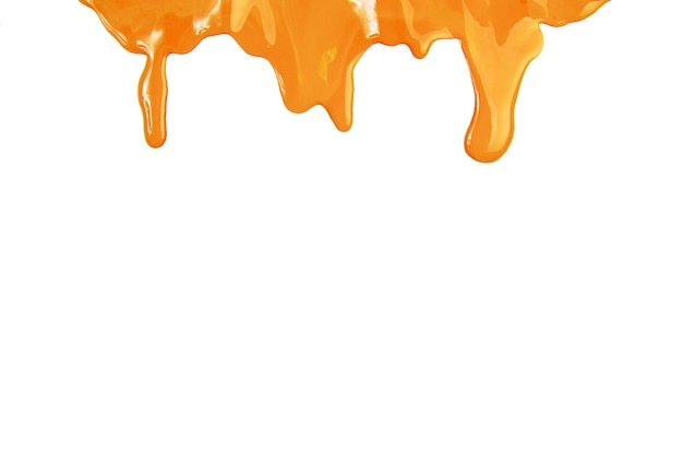 Gotas de pintura amarilla Foto gratis