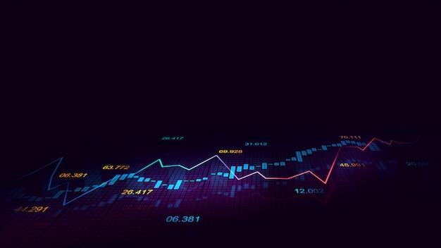 Gráfico bursátil o forex en concepto gráfico Foto Premium