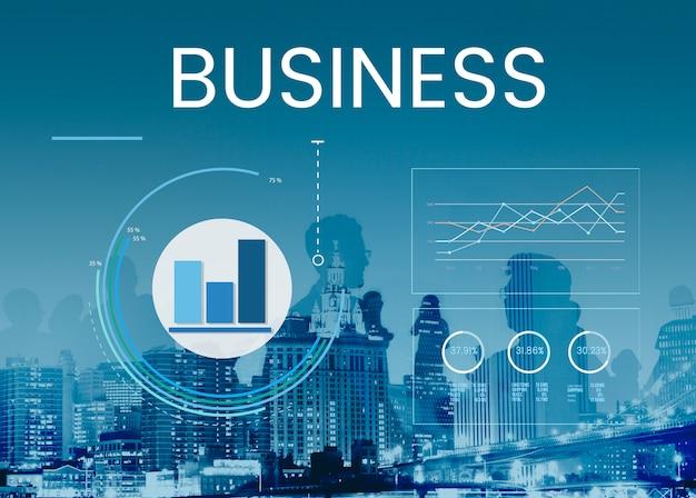 Gráfico de gráfico de resumen de resultados de análisis de datos gráfico Foto gratis