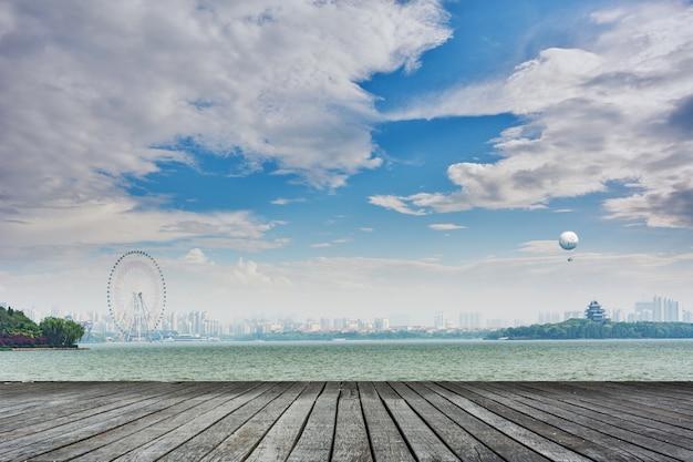 Gran ciudad en la distancia Foto gratis