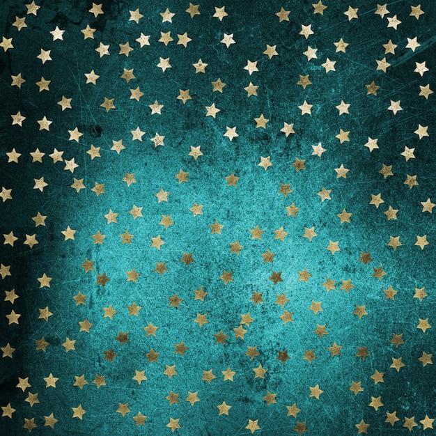 Grunge con estrellas doradas Foto gratis