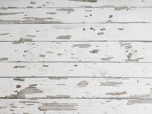 Grunge peeling pintura blanca textura madera Foto gratis