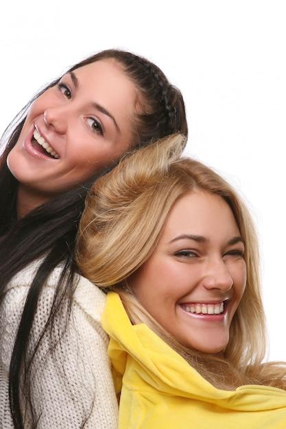Un grupo de chicas jovenes y hermosas Foto gratis