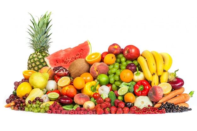 Grupo de frutas y verduras Foto Premium