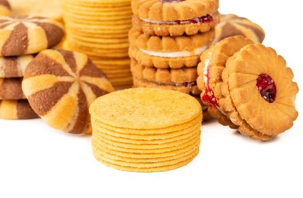 Grupo de galletas o bizcochos Foto Premium
