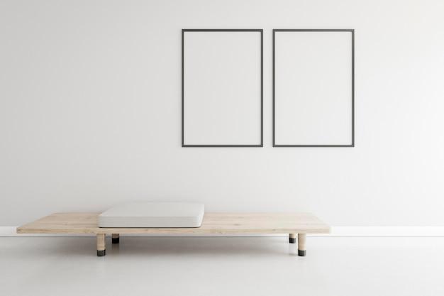 Habitación mínima con muebles elegantes. Foto Premium