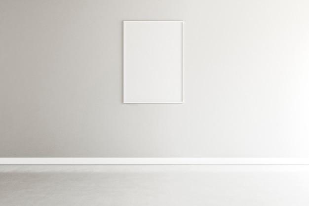 Habitación minimalista con elegante marco interior. Foto Premium