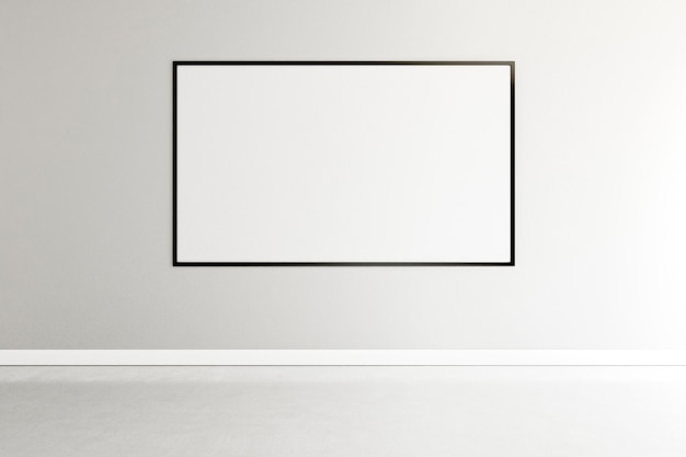 Habitación minimalista con elegante marco interior. Foto gratis