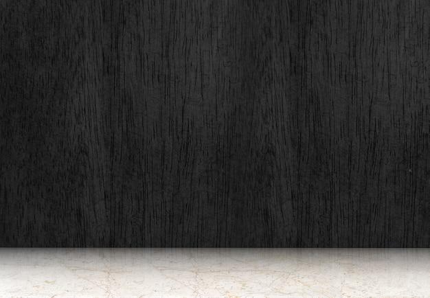Habitaci n vac a con piso de madera negro y piso de m rmol for Piso de marmol negro