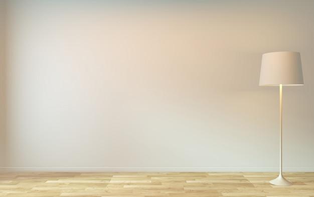 Habitación vacía zen diseño minimalista representación 3d Foto Premium