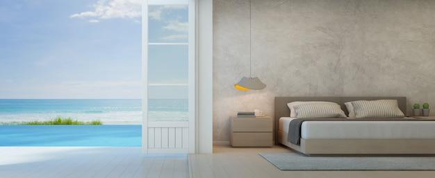 Habitación Con Vistas Al Mar Y Terraza En La Casa De Playa