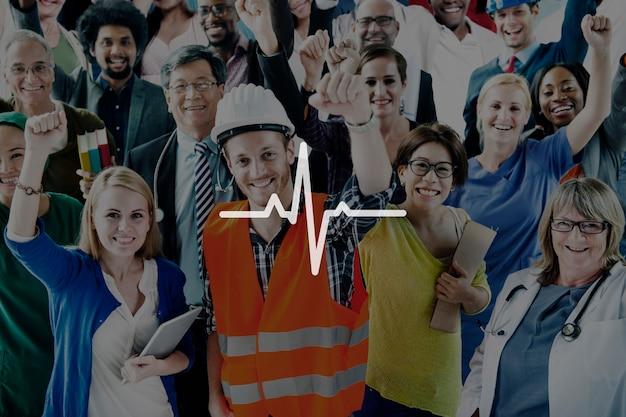 Heartbeat healthcare life health cardiogram concept Foto gratis
