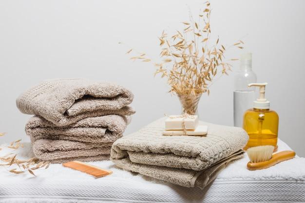 Hermosa composición para concepto de spa o baño Foto gratis