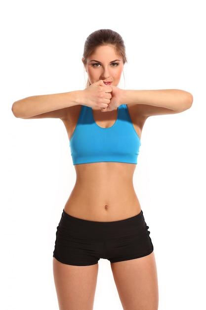 Hermosa mujer activa en ropa deportiva Foto gratis