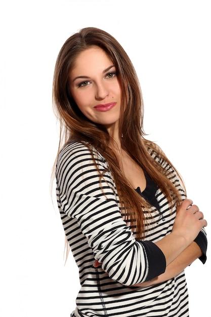 Hermosa mujer joven con cara astuta Foto gratis