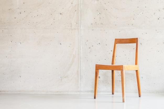 Hermosa silla de madera de lujo Foto gratis