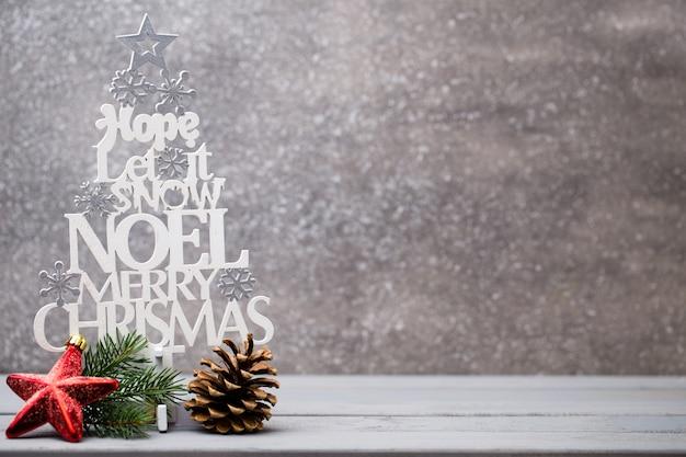 Hermosa tarjeta de felicitación de navidad Foto Premium