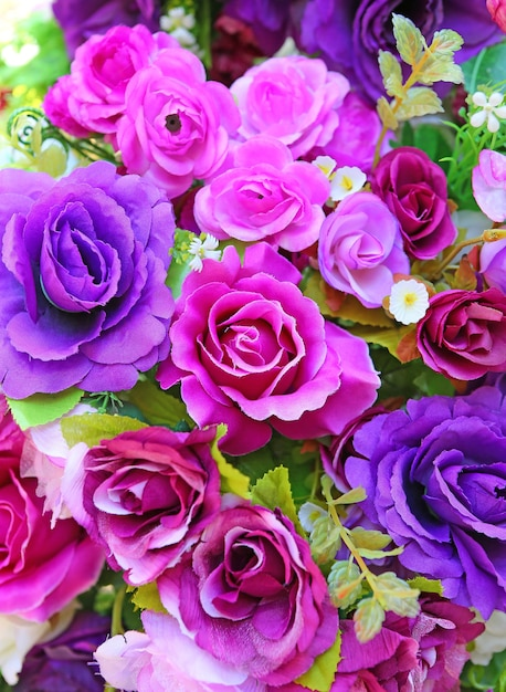 Hermosas Flores De Rosas Artificiales Para El Fondo Descargar