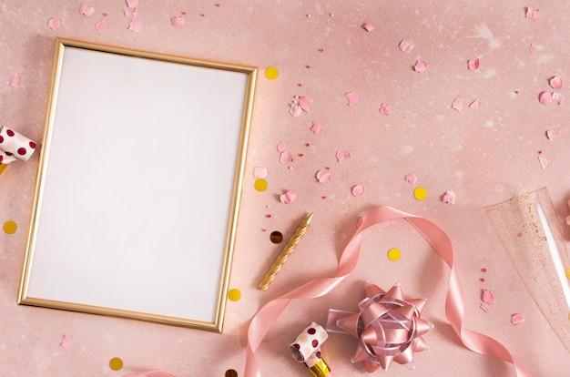 Hermoso concepto de cumpleaños con espacio de copia Foto gratis