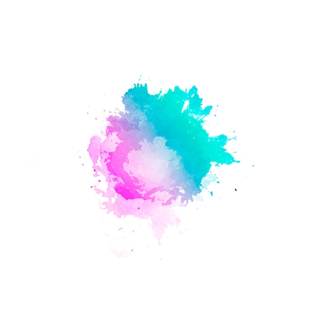 Hermoso fondo abstracto de manchas de color de agua dibujadas a mano Foto gratis