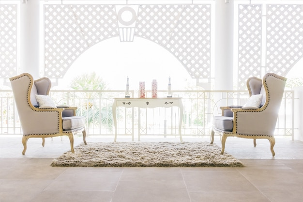 Hermoso sofá de lujo Foto gratis