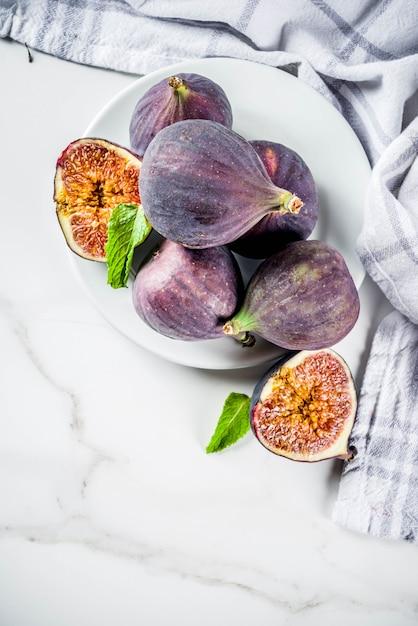 Higos crudos frutas Foto Premium