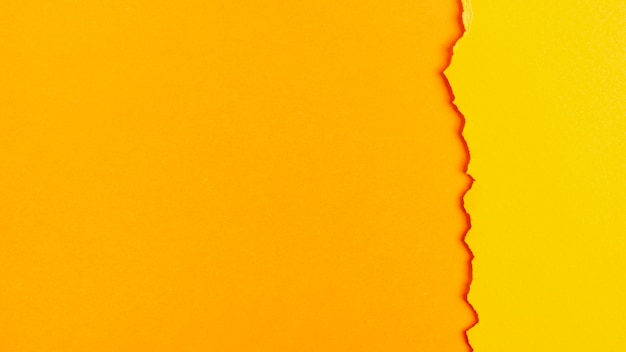 Hojas de papel de tonos amarillos con espacio de copia Foto Premium