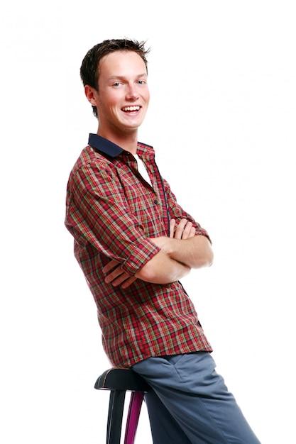Hombre adolescente joven y atractivo Foto gratis