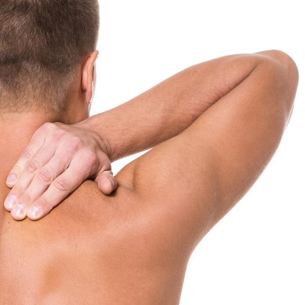 Hombre con dolor de espalda Foto gratis