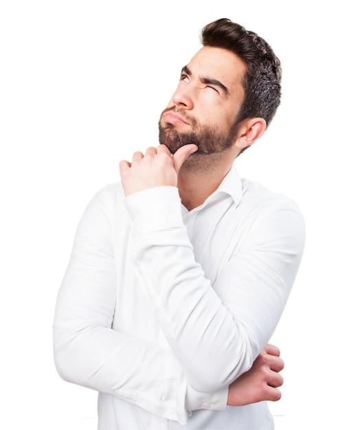 Hombre pensando Foto Gratis