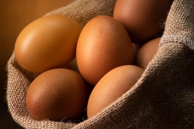 Huevo de gallina blanca, puesta vivo Foto Premium