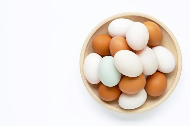 Huevos en blanco Foto Premium
