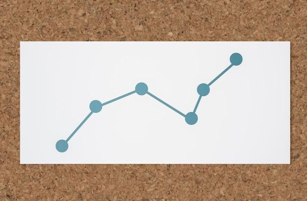 Icono de análisis de datos de gráfico de línea Foto gratis